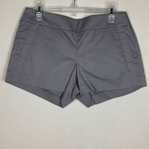 J Crew- Gray Shorts zip up the side size 6